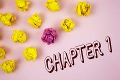 Kapitel 1 för textteckenvisning Begreppsmässig fotostart något som är ny, eller danande de stora ändringarna i en s-resa som är s Royaltyfria Bilder