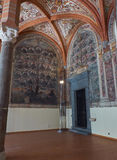 Kapitel Hall av San Lorenzo Maggiore italy naples Arkivbilder