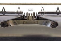 Kapitel on a Typewriter Stock Photography