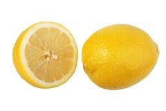 Kapitel und einzelne Zitronen. stockfotos