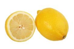 Kapitel und einzelne Zitronen. lizenzfreies stockfoto