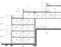 Kapitelgebäudezeichnung Stockfotografie