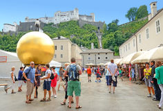 Kapitelplatz en Salzburg, Austria. Fotografía de archivo