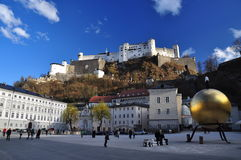 Kapitelplatz, Salzbourg, Autriche. Photos libres de droits