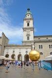 Kapitelplatz in Salzburg, Oostenrijk. Stock Afbeeldingen