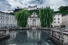 Kapitelplatz - Salzburg - Oostenrijk Stock Afbeeldingen