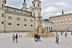 Kapitelplatz, Salzburg Stock Image