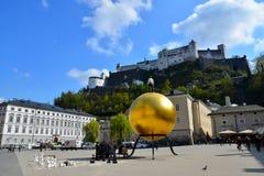 Kapitelplatz. Sunny day in Kapitelplatz, Salzburg Royalty Free Stock Image