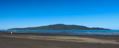 Kapiti Island. Is a nature reserve for New Zealand native birds Royalty Free Stock Image