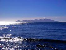 Kapiti Island. View of Kapiti Island, Wellington, New Zealand Royalty Free Stock Photos