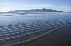 Kapiti Island. As seen from Raumati Beach, New Zealand Stock Photo
