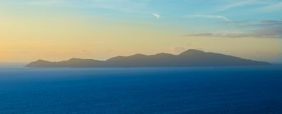 Kapiti Island. Kāpiti Island in New Zealand blue coastal waters Stock Images