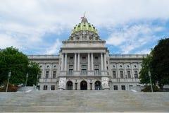 Kapitol, das Harrisburg, Pennsylvania errichtet stockbilder