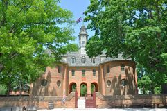 Kapitol der britischen Kolonie, Williamsburg lizenzfreie stockbilder