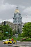 Kapitol-Gebäude in im Stadtzentrum gelegenem Denver Colorado Lizenzfreie Stockbilder