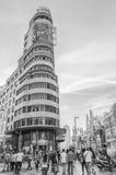 Kapitol-Gebäude in Madrid Stockfotos