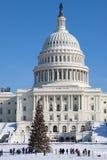 Kapitol-Gebäude nach Schneesturm lizenzfreies stockfoto