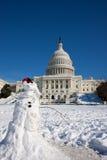 Kapitol-Gebäude nach Schneesturm lizenzfreies stockbild