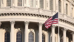 Kapitol-Gebäude Vereinigter Staaten, Washington, DC stock footage