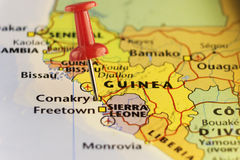 Kapitol von Guinea, Conakry, Perspektive Lizenzfreies Stockfoto