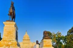 Kapitol Washingtons, USA, Vereinigte Staaten, Ulysses S Grant Memoria stockfotos