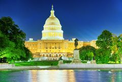 Kapitol Washingtons, USA, Vereinigte Staaten, Ulysses S Grant Memoria lizenzfreie stockfotografie