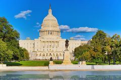 Kapitol Washingtons, USA, Vereinigte Staaten, Ulysses S Grant Memoria Lizenzfreie Stockbilder