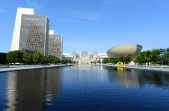 Kapitolium för New York stat, Albany, NY, USA Arkivfoto