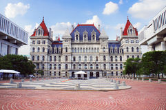 Kapitolium för New York stat i Albany Royaltyfri Fotografi