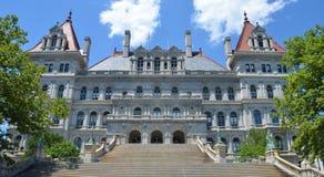 Kapitolium för New York stat i Albany, New York stat Fotografering för Bildbyråer