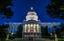 Kapitolium i Sacramento, Kalifornien Arkivbilder