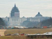 Kapitolium och arkiv av kongressen Royaltyfri Foto