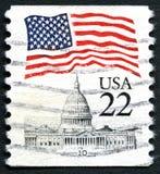 Kapitolium som bygger USA-portostämpeln Fotografering för Bildbyråer