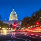 Kapitoliumbyggnad i Washington DC Arkivfoto