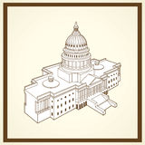 Kapitolpostkarte Vereinigter Staaten Lizenzfreie Stockfotos