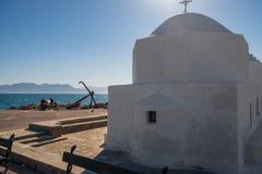 Kaplica Świątobliwy Nicholas Thalassinos Aegina wyspa Grecja obrazy stock
