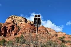 Kaplica Święty krzyż, Sedona, Arizona, Stany Zjednoczone obraz stock