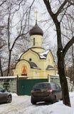 Kaplica Dmitry Donskoy na zewnątrz Wschodniej ściany Andronikov monaster moscow fotografia royalty free