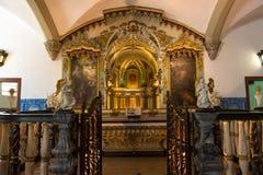 Kaplica kości w Evora z ludzkimi kościami fotografia royalty free