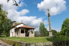 Kaplica lokalizować w Guimaraes Santa Cruz Zdjęcia Stock