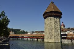 kaplica Luzern bridge fotografia royalty free