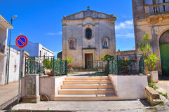 Kaplica madonny della Palma. Palmariggi. Puglia. Włochy. Obrazy Royalty Free