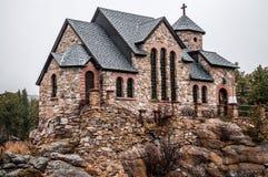 Kaplica na Rockowym Kamiennym Chruch, Estes parku - Obrazy Stock