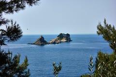 Kaplica na wyspie Zdjęcie Stock
