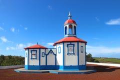 Kaplica Nasz dama Święta góra, St Miguel wyspa, Azores Obraz Stock