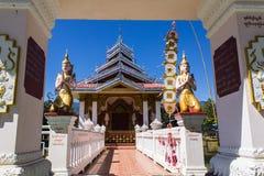 Kaplica shanu styl w Wacie Nong Kok Kam, Wianghaeng Chiangmai Tajlandzki Zdjęcia Royalty Free
