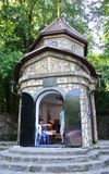 Kaplica St Sergius Radonezh w terenie Gelendzhik Krasnodar, Rosja (,) Obraz Royalty Free