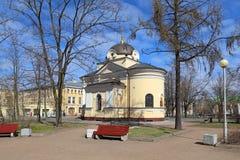 Kaplica Tikhvin ikona matka bóg w St Obrazy Stock