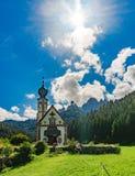 Kaplica w dolomitach Obrazy Stock