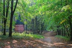 Kaplica w drewnach Fotografia Stock